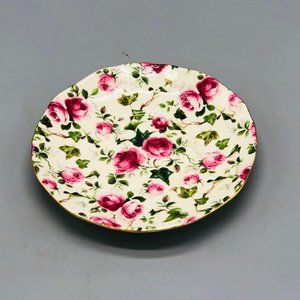 vintage tea saucer floral gold colored trim porcel
